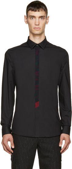 Kenzo Black Printed Placket Shirt