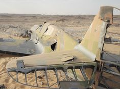 Frozen in the sands of time: Eerie Second World War RAF fighter plane discovered in the Sahara... 70 years after it crashed in the desert