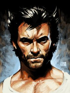 Hugh Jackman in his well played and very muscular Wolverine. I personally like the X-men movies more than the Wolverine one. Wolverine Tattoo, Wolverine Movie, Wolverine Art, Logan Wolverine, Marvel Fanart, Marvel Comics, Marvel Heroes, Marvel Comic Character, Comic Book Characters