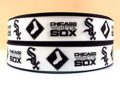 Chicago White Sox Inspired Grosgrain Ribbon Sold  By the Yard on Etsy, $1.35