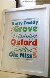 A free Ole Miss and Oxford printable!