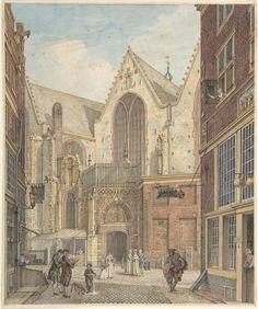 Hermanus Petrus Schouten   View of the Old Church of Amsterdam   The Metropolitan Museum of Art