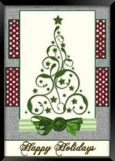 5 X 7 Christmas Tree Wall Decor by CustomCardsbyAnne on Etsy, $7.00