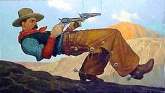 Paul Slater Johnny Limbo Le Far West, Western Art, Illustrators, Westerns, Sky, Blue, Action, Paintings, Heaven