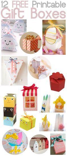beanipet: Bricolaje - Libre para imprimir cajas de regalo