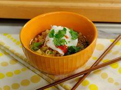 Pork, Sweet Potato and Shiitake Mushroom Ramen Recipe : Katie Lee : Food Network Ramen Recipes, Top Recipes, Dinner Recipes, Healthy Recipes, Easy Recipes, Snack Recipes, Entree Recipes, Noodle Recipes, Healthy Eats