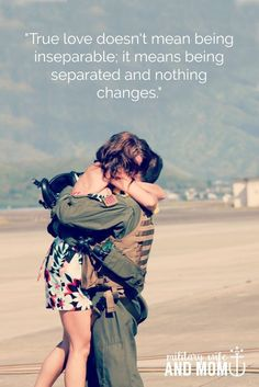 Deployment quotes for military spouses and significant others that will make your heart skip a beat. Theyre the perfect set of military wife quotes to inspire you during the ups and downs of deployment. Military Girlfriend Quotes, Military Wife Quotes, Army Quotes, Marines Girlfriend, Military Couples, Husband To Wife Quotes, Love Your Wife Quotes, Inspirational Military Quotes, Army Boyfriend