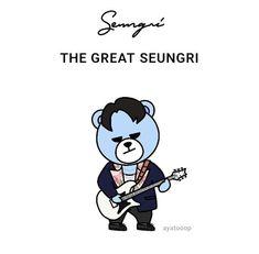 Bigbang Krunk, Bigbang Logo, Daesung, Bias Wrecker, Fanart, Bear, Comics, Sayings, Pintura