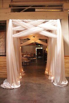 Wedding ceremony entry way