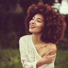 NATASHA JAMES OF RAW CELLS. Beautiul Afro.