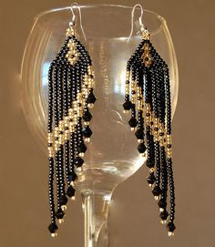just a picture but the pattern wouldn't be hard to make ...   Beaded Earrings