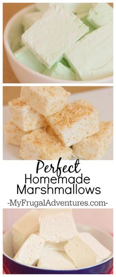 Perfect homemade marshmallows-- so light and fluffy-- a perfect gift idea!