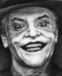 pencil art. Hugh Laurie- Jack Nicholson the Joker