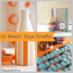 12 Washi Tape Crafts {DIY Gifts} or what to do with the washi tape I bought at Costco