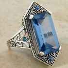 6 CT. SIM AQUAMARINE OPAL VICTORIAN DESIGN .925 STERLING SILVER RING SIZE 5,#283 - http://jewelry.goshoppins.com/vintage-antique-jewelry/6-ct-sim-aquamarine-opal-victorian-design-925-sterling-silver-ring-size-5283/