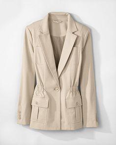 Signature Ponte Knit: Safari Jacket