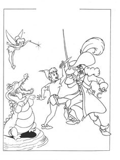 coloring page Peter Pan on Kids-n-Fun. Coloring pages of Peter Pan on Kids-n-Fun. More than coloring pages. At Kids-n-Fun you will always find the nicest coloring pages first! Peter Pan Coloring Pages, Pirate Coloring Pages, Cool Coloring Pages, Disney Coloring Pages, Free Coloring, Coloring Pages For Kids, Coloring Books, Kids Coloring, Peter Pan Disney