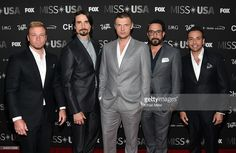 Singers Brian Littrell, Kevin Richardson, Nick Carter, A.J. McLean and Howie Dorough of the Backstreet Boys attend the 2016 Miss USA pageant at T-Mobile Arena on June 5, 2016 in Las Vegas, Nevada.