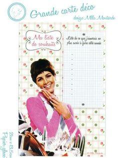 Une grande carte pour décorer la cuisine et éduquer Môssieur...