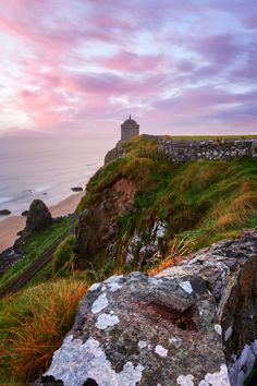 Sunrise, Mussenden Temple and Beach ~ Castlerock, County Derry, Northern Ireland  by Joe Daniel Price
