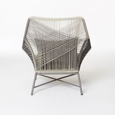 Huron Large Lounge Chair – Gray/Seal   west elm