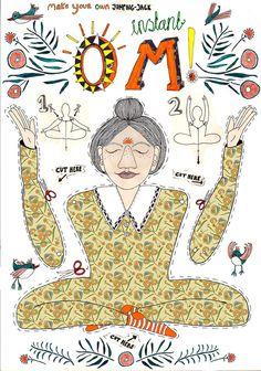 Sofortige Om Yoga Hampelmann. Kunst Abbildung von SigneGabriel