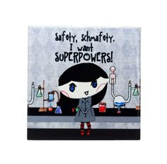 Lab Safety Superpowers Wall Art Ceramic 4x4 Tile