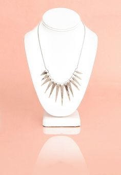 Haimi Spiked Necklace In Silver
