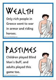 A set of 20 A5 printable fact cards that give fun and interesting facts about the ancient Greeks and Greek mythology. Each fact card has a key word heading, making this set an excellent word bank as well! Visit our TpT store for more information and for other classroom display resources by clicking on the provided links.