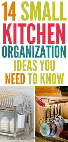 Genius storage ideas for a small kitchen. Love these brilliant ways to organize a small kitchen - check them out.