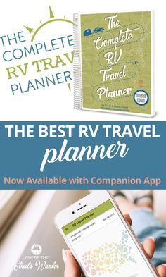Do you travel in your RV and need help organizing your travel plans? The Complete RV Travel Planner can help you PLAN your RV travel, ORGANIZE your campground reservations