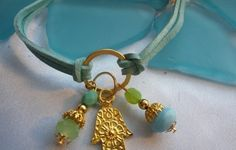 Suede And Hamsa Bracelet- FREE SHIPPING!!  Buy Now $16.00