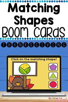 Your kindergarten students will love this digital Thanksgiving shape activity that is perfect for remote learning or as an independent math center. Students will focus on CCSS.K.G.A.2 standard by identifying 2D shapes using Boom Learning. It includes over 40 different task cards and it's self grading, engaging and no prep! Interactive Learning, Student Learning, Fun Learning, Holiday Activities For Kids, Thanksgiving Activities, Math Rotations, Math Centers, Primary Maths Games, Kindergarten Blogs