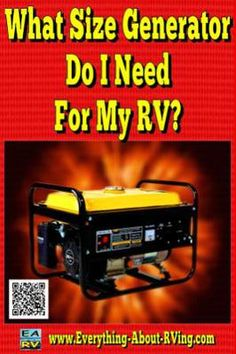 What Size Generator Do I Need For My RV? How big a generator would I need to run a 110v Refrigerator, TV, VCR and an Air Conditioner in my motor home? I can buy this: Craftsman generator 2400-watt,