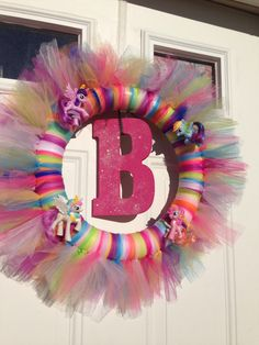 My little pony tulle wreath