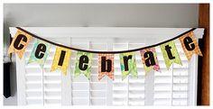 celebrate #banner diy