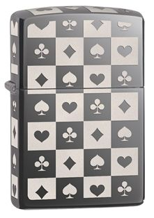 It wouldn't be a gamble to get this lighter. The four card suits are displayed on every surface of the lighter - even the top - in brilliant laser engraving. Comes packaged in an environmentally friendly gift box. For optimal performance, use with Zippo premium lighter fluid.