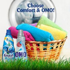 Use concentrated laundry detergents as these products have reduced packaging and a smaller carbon footprint. Think Comfort Concentrated Fabric Conditioner and OMO Auto ;