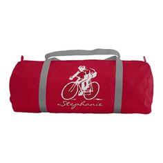 Biking Cycling Design Duffle Gym Bag Gym Duffel Bag