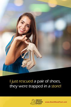 I just rescued a pair of shoes, they were trapped in a store #bootmoodfoot #Quoteoftheday Pairs, Store, Boots, Crotch Boots, Larger, Shoe Boot, Shop