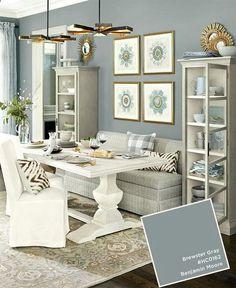 Benjamin Moore's Brewster Gray Living Room.