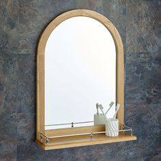 Sliding Door Wide Solid Oak Mirror Bathroom Cabinet And