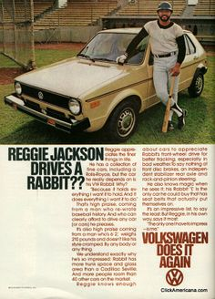 Reggie Jackson drives a Rabbit? (1978)