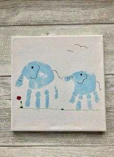 Elephant handprints - Sibling picture on linen . - worktop on Ele .Elephant handprints - sibling picture on linen . - worktop on elephant handprints sibling picture A rainbow of learning fun: