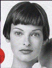 Linda Evangelista with perfect short, blunt bob. http://www.bobpage.de/models/linda_01.jpg