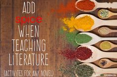 11 novel activities for any piece of literature. Plug these in to any short story/ novel lesson plan to add spice to your students' understanding!