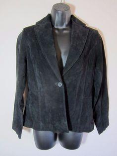 Relativity Suede Blazer S Small Black Jacket LS Long Sleeve Lined Womens NEW #Relativity #Blazer