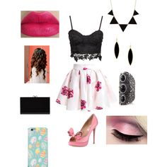 Easter outfit by leticiacamacho on Polyvore featuring Valentino, Charlotte Olympia, Express and Rivka Friedman