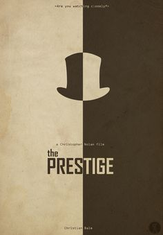 The Prestige (2006) ~ Minimal Movie Poster by Sinisa Cikac #amusementphile