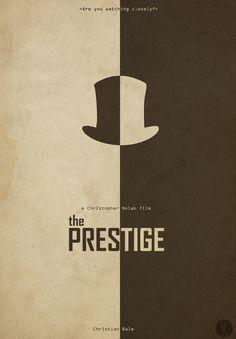 The Prestige (2006) ~ Minimal Movie Poster by Sinisa Cikac #amusementphile